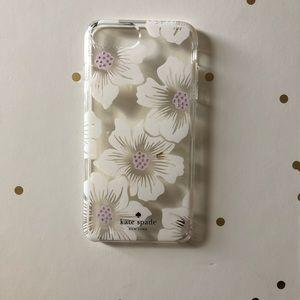 ♠️Pink & Cream Hollyhock Kate Spade iPhone 8 Plus